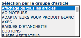 Groupe d'article