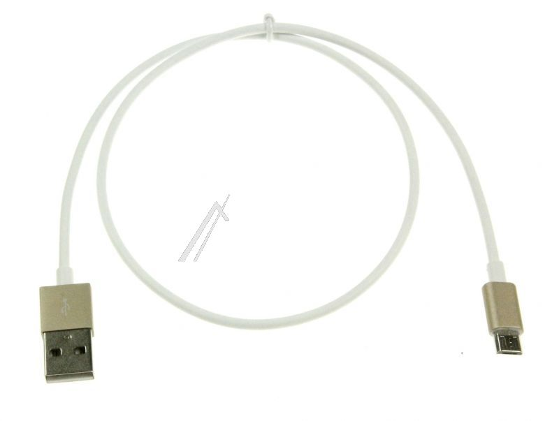 A MALE./MICRO USB B MALE, CHARGE RAPIDE, BLANC, 0,5M 0,5M